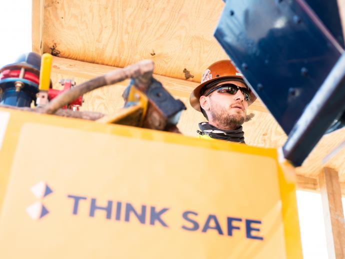 Keller Think Safe logo on site